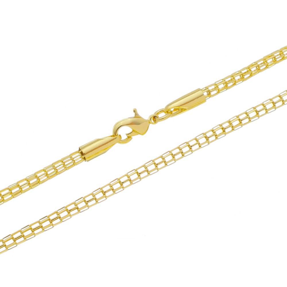Corrente Rede Folheada a Ouro 18k com 50cm