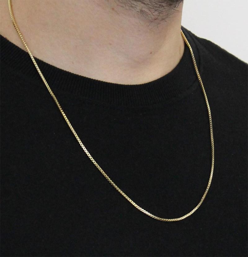 ... Corrente Veneziana Folheada a ouro 18k com 1,5mm - Tudo Jóias ... 353f50ff27