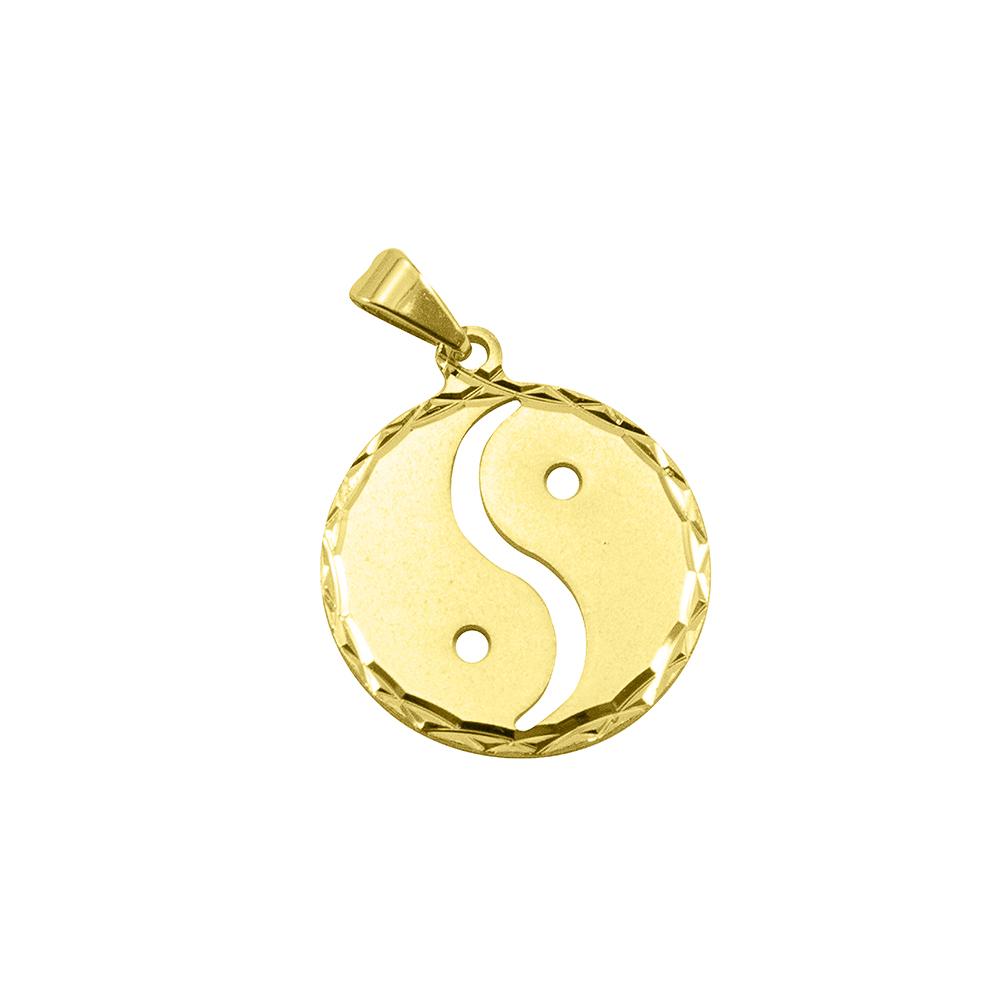 Pingente Filosofia Yin-Yang Folheada a Ouro 18k