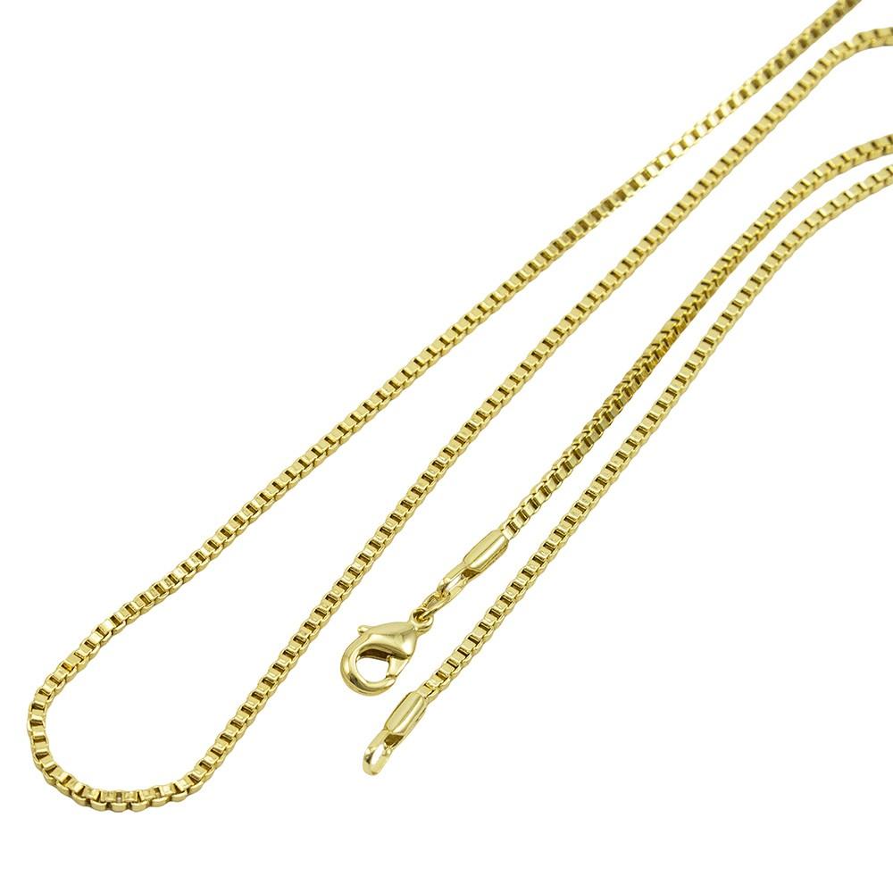 Kit Cruz Frisada com Corrente Veneziana 1,5mm x 60cm Folheado a Ouro 18k