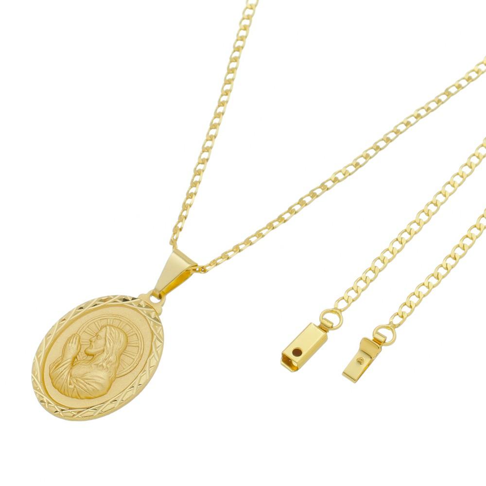 Medalha Jesus Orando com Corrente Grumet Gaveta