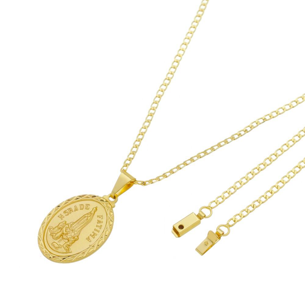 Medalha Nossa Senhora de Fátima com Corrente Grumet Gaveta