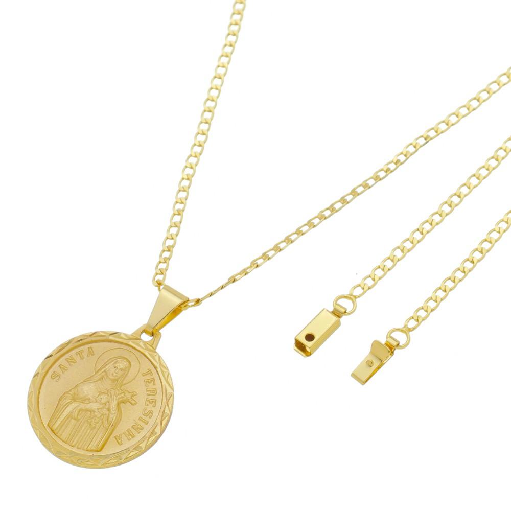 Medalha Santa Terezinha com Corrente Grumet Gaveta