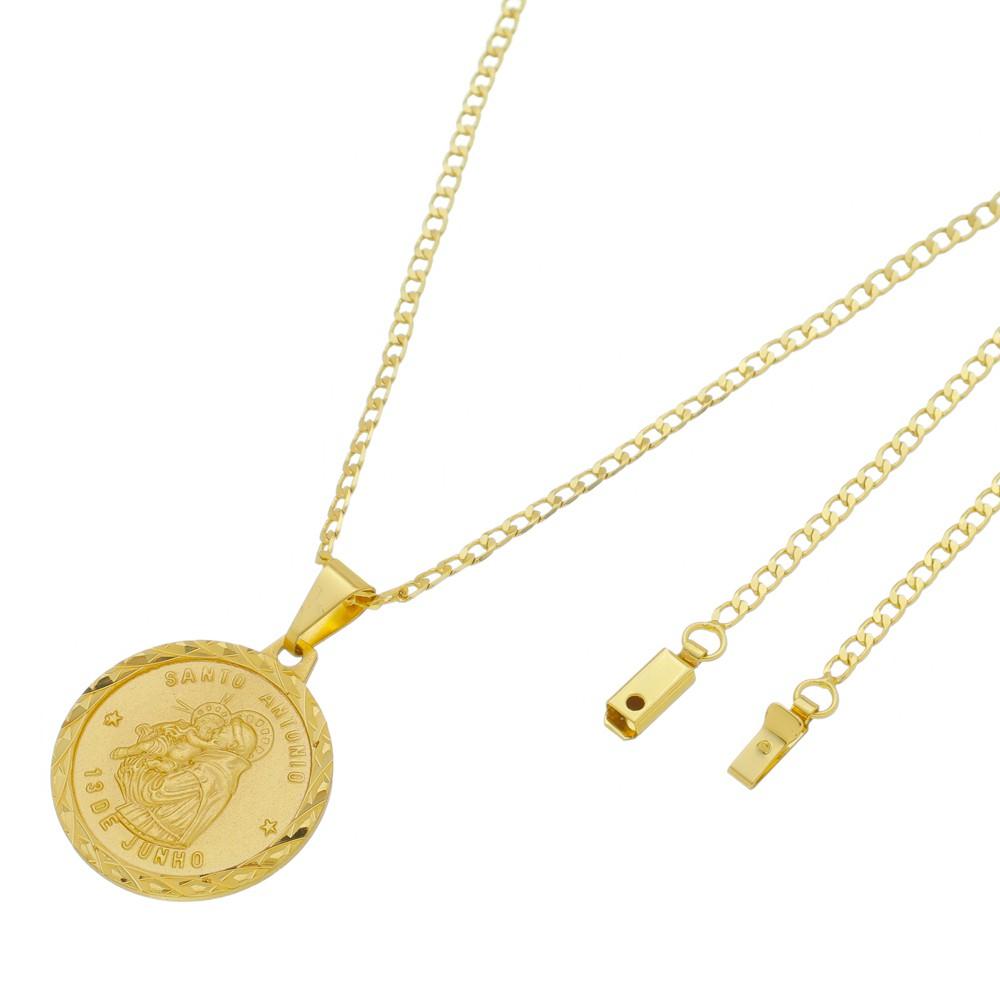 Medalha Santo Antônio com Corrente Grumet Gaveta