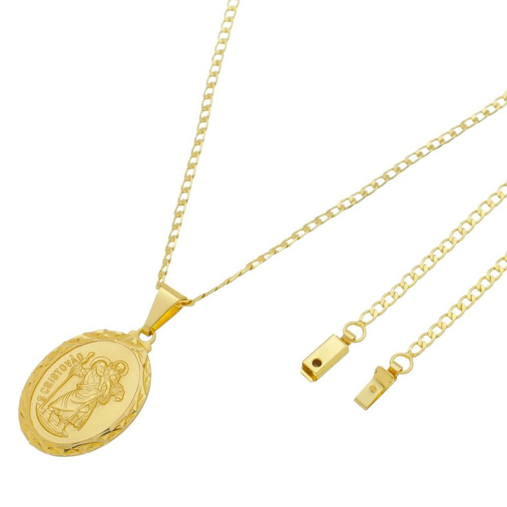Medalha São Cristovão com Corrente Grumet Gaveta