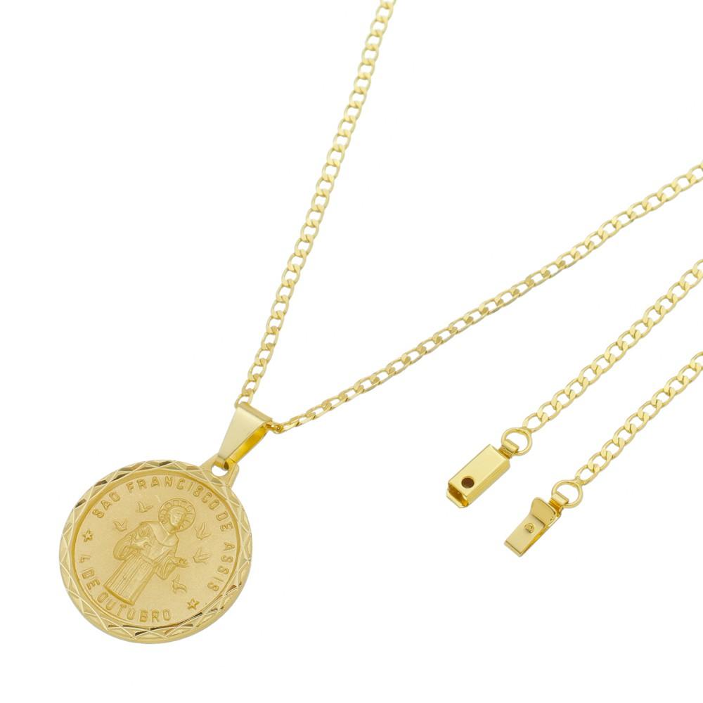 Medalha São Francisco de Assis com Corrente Grumet Gaveta