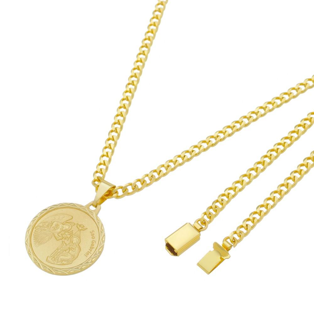 Medalha São Gabriel com Corrente Grumet 5mm Gaveta