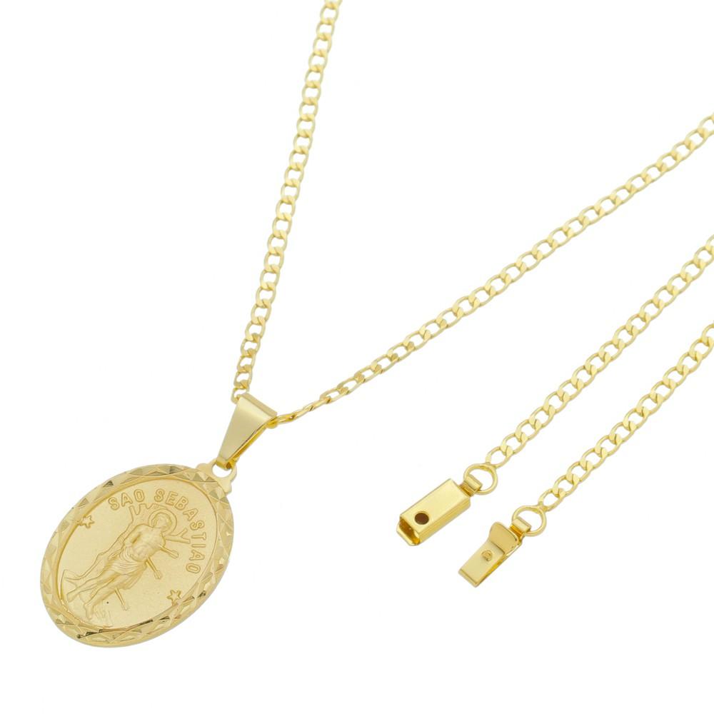 Medalha São Sebastião com Corrente Grumet Gaveta