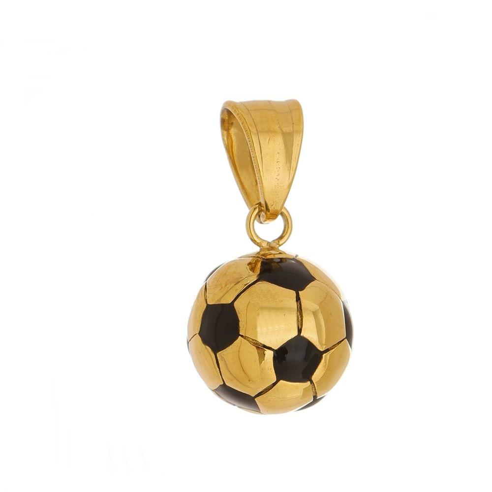 Pingente Bola de Aço Inox Modelo Dourada