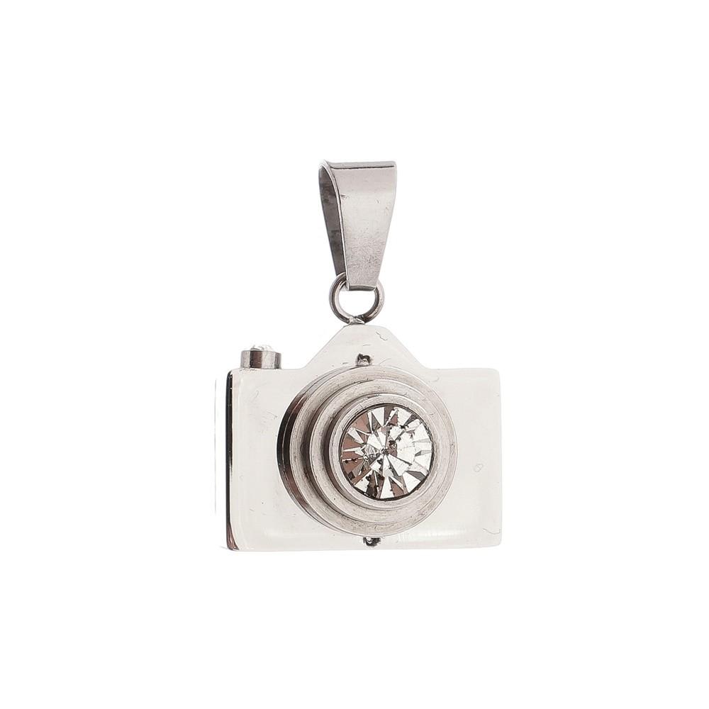 Pingente Câmera de Aço Inox 316L