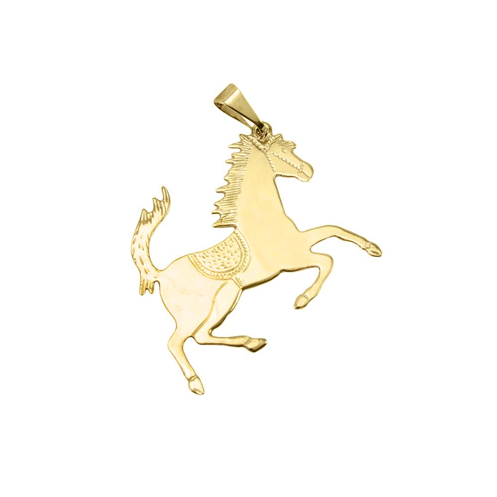Pingente Cavalo Folheado a Ouro 18k