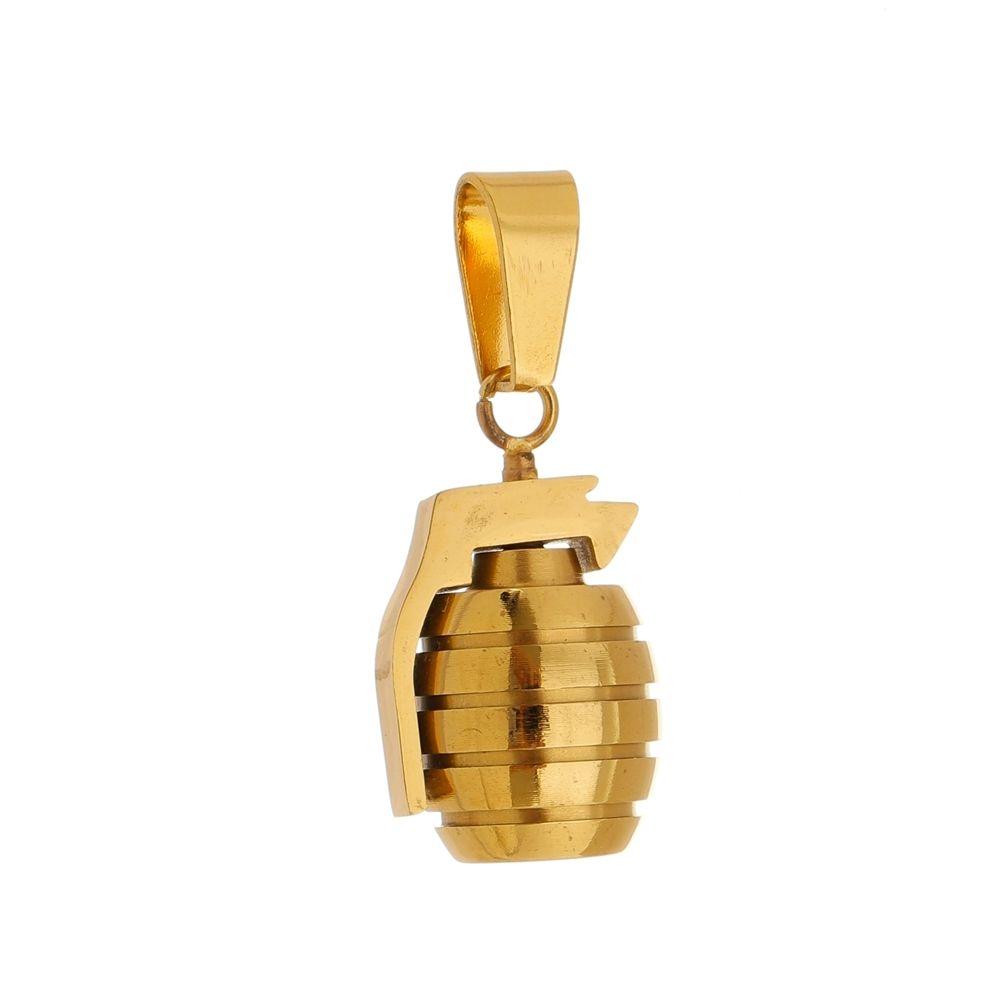 Pingente Granada de Aço Inox Modelo Dourada