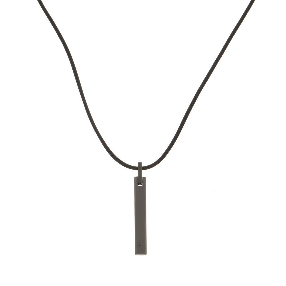 Pingente Obelisco Black de Aço Inox