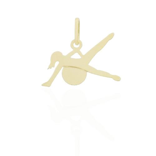 Pingente Pilates Folheado a Ouro 18k