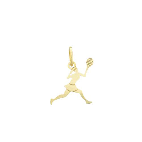 Pingente Tênis Feminino Folheado a Ouro 18k