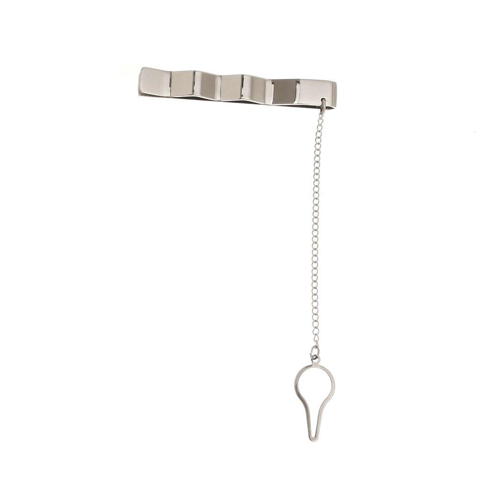 Prendedor de Gravata Grey Luxo Linha Versalhes