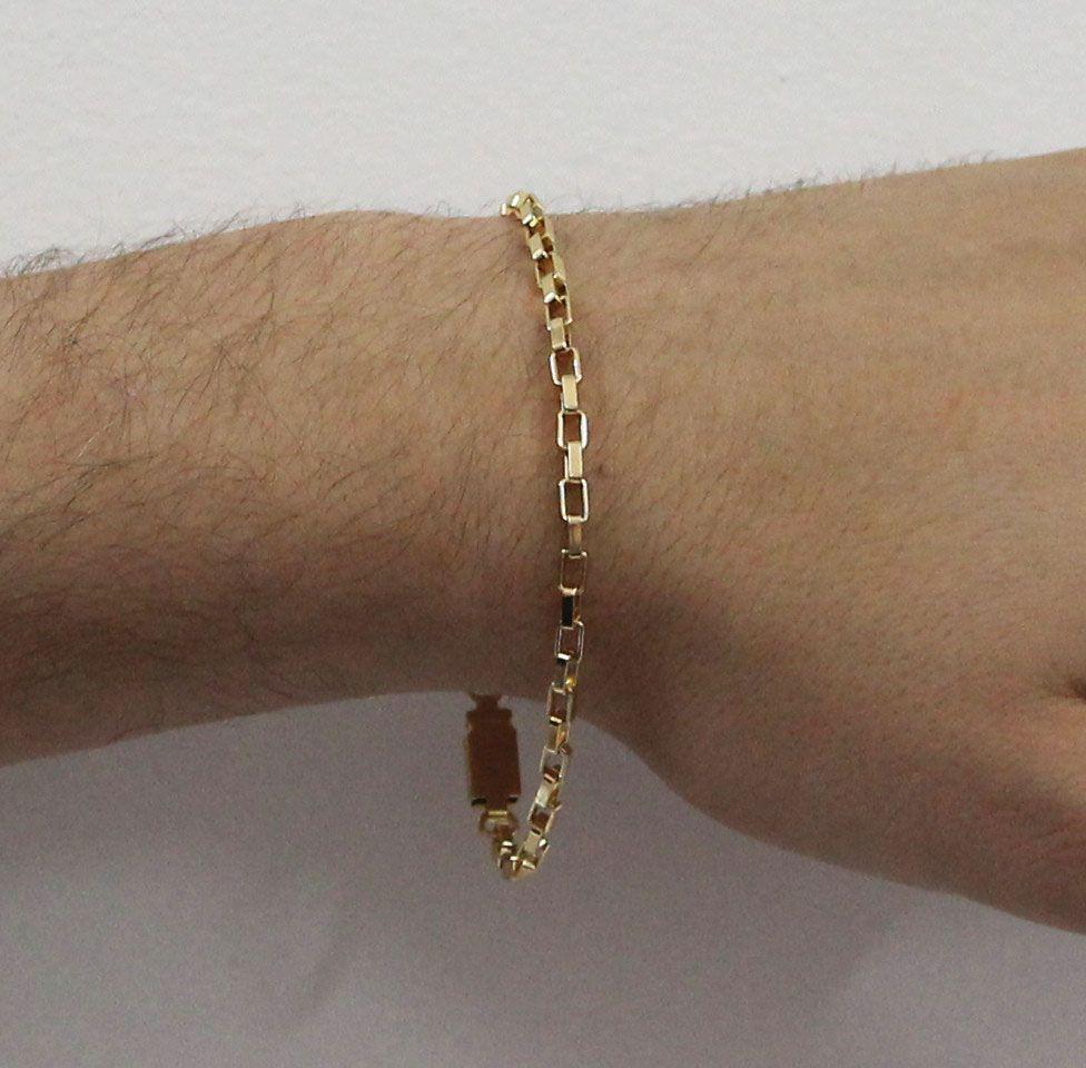 1257011eeb7 ... Pulseira Cartier 3mm Folheada a Ouro Fecho Gaveta - Tudo Jóias ...