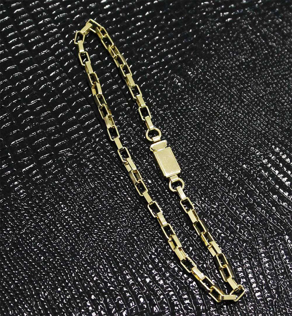 faf2e13d2bc Pulseira Cartier 3mm Folheada a Ouro Fecho Gaveta - Tudo Jóias ...