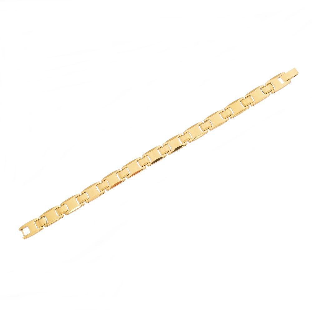 Pulseira de Tungstênio Gold com 10mm de Largura