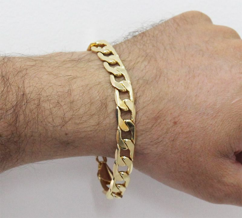 Pulseira Folheada a Ouro 18k com 10mm largura