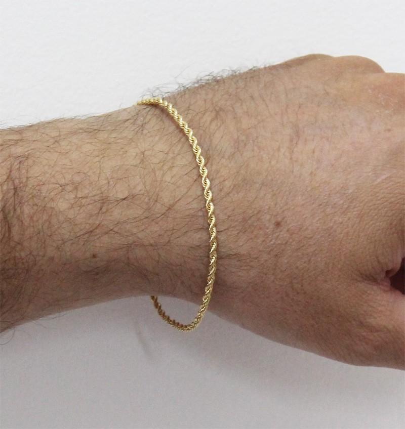 Pulseira Folheada a Ouro 18k Modelo Baiano
