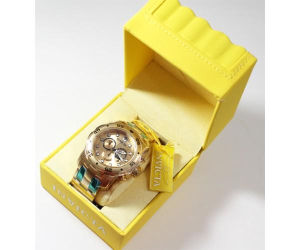 7b74ccbccaf ... Relogio Invicta Original Modelo 0074 Banhado a Ouro Fundo Dourado - Tudo  Jóias ...