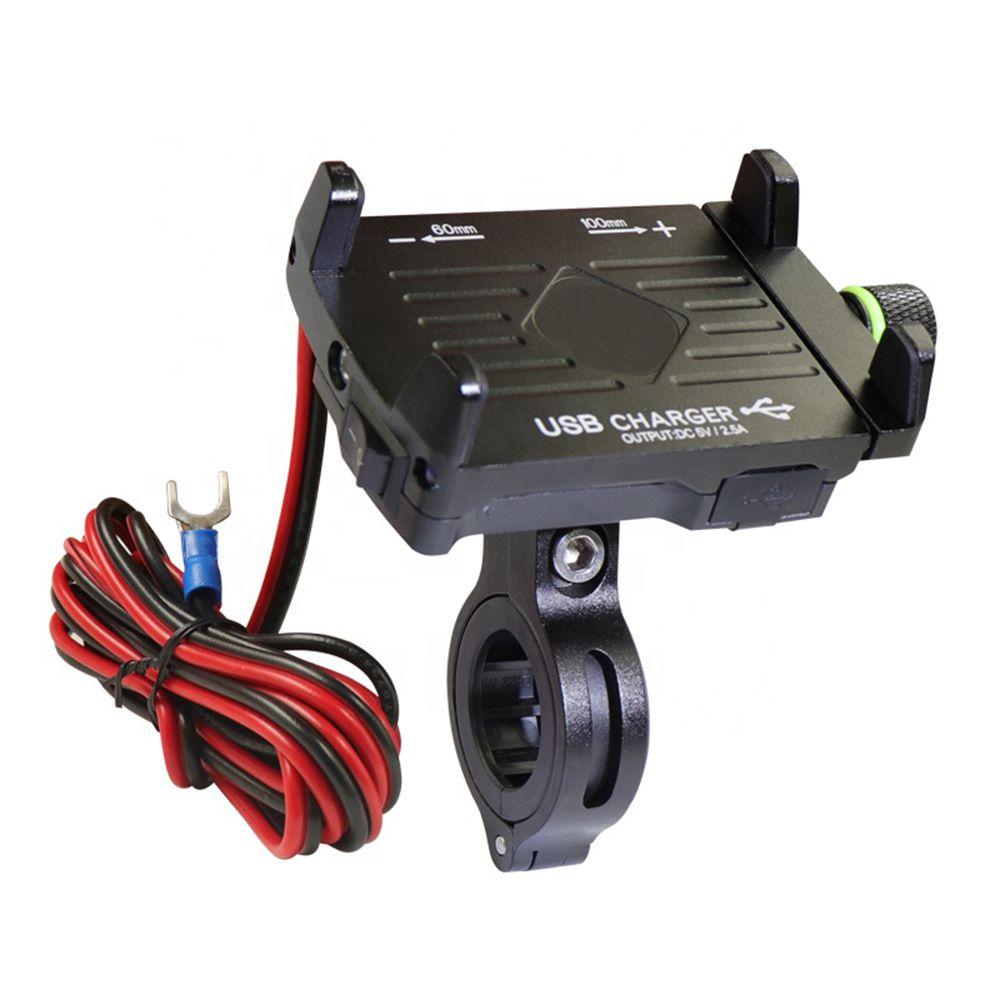 Suporte de GPS e Celular para Moto/bicicleta em alumínio Com carregador USB e com sistema de rotação 360º Suporte Mania