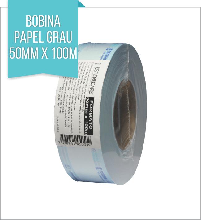 BOBINA PAPEL GRAU 50mmx100m
