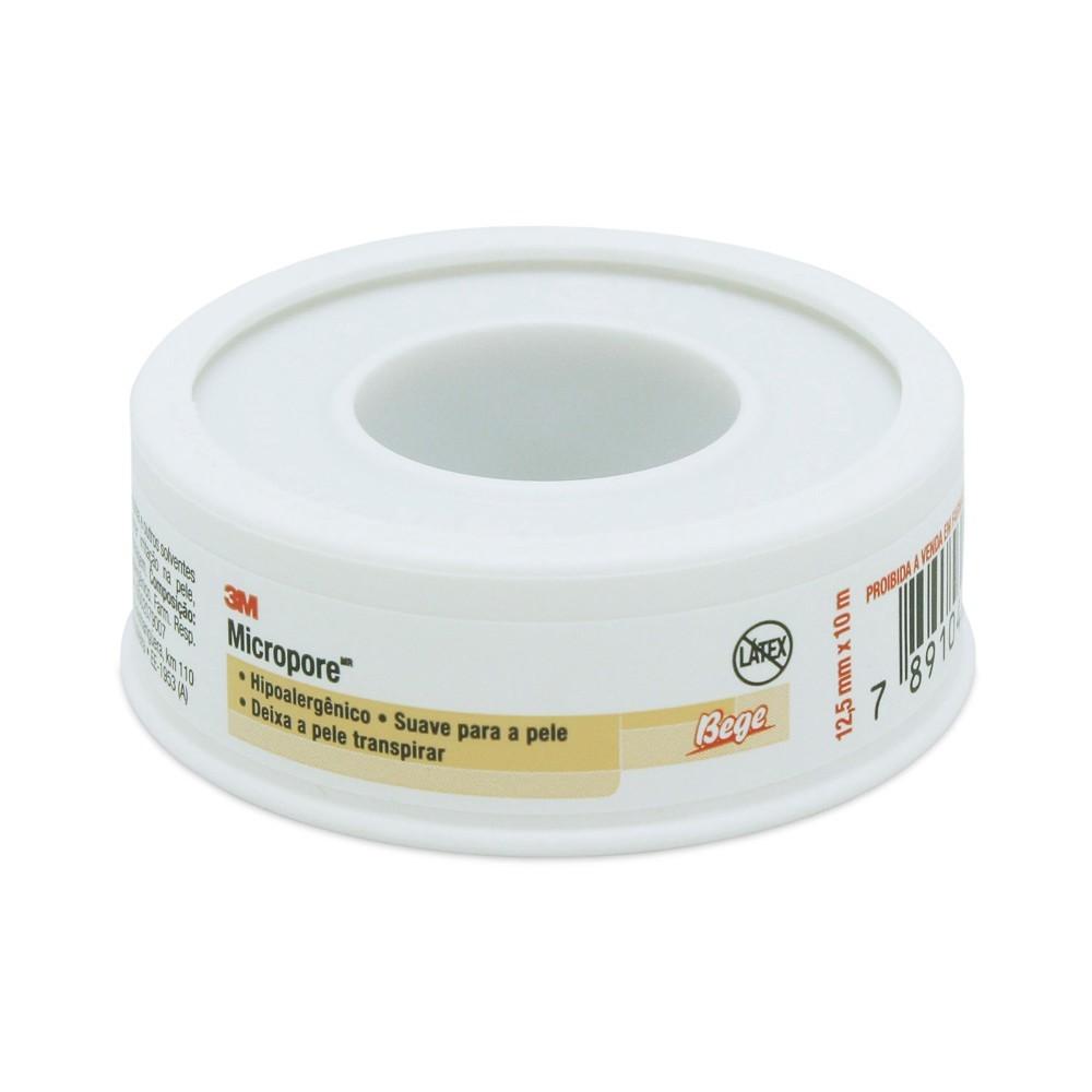 MICROPORE 3M  COR DA PELE 12,5mmX10mt