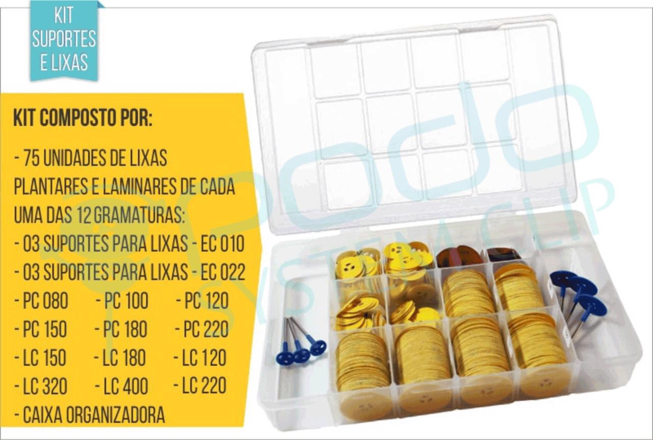 KIT COMPLETO - OG 1520 C/ TOTAL DE 900 LIXAS 3 EIXOS EC010 e 3 EIXOS EC022