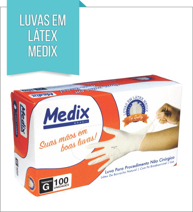 LUVA EM LÁTEX C/ PÓ MEDIX P
