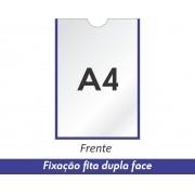Display A4 em PETG com Fixação Fita Adesiva Dupla Face - Clace 1 UN