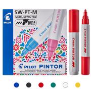 Marcador Multi Superfície Pintor 1.4 mm (Cores Clássicas) - Pilot CX 6 UN