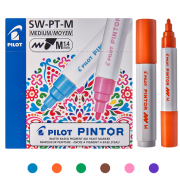 Marcador Multi Superfície Pintor 1.4 mm (Cores Criativas) - Pilot CX 6 UN