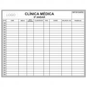Quadro Hospitalar Branco para Gerenciamento de Pacientes - 150 x 120 cm