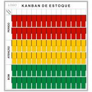 Quadro Kanban de Estoque para Parede - 119 x 128 cm - Clace 1 UN