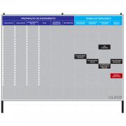 Quadro Preparação de Agendamento / Trabalho Paralisado - 255 x 125 cm - Clace 1 UN
