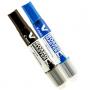 Kit de 2 Marcadores para Quadro Branco Recarregável WBMA - Azul e Preto