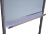 Flip Chart em Vidro Não Magnético com Suporte Fixo em Aço com Rodízios - Clace 1 UN