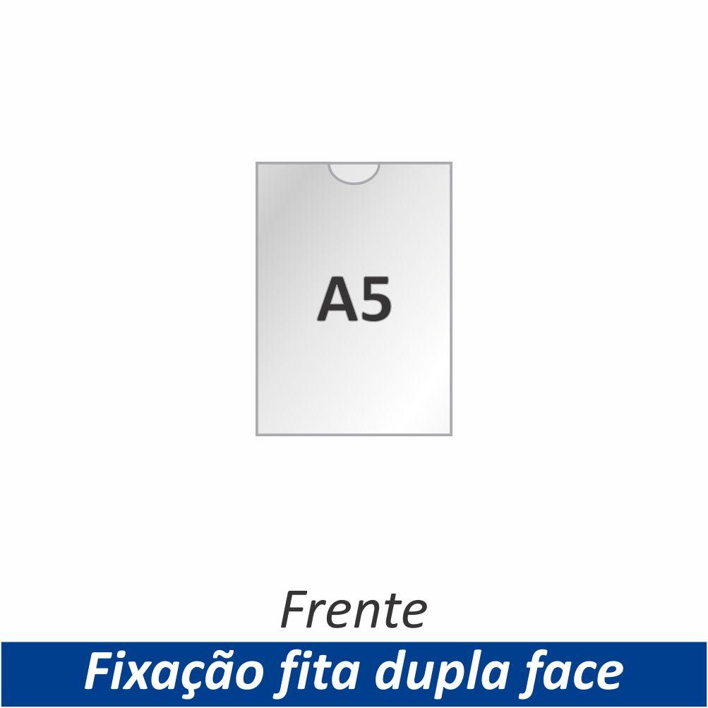Display A5 em Acrílico com Fixação Fita Adesiva Dupla Face - Clace 1 UN