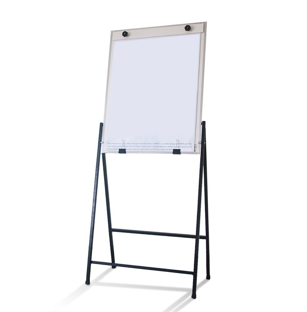 Flip Chart Portátil Não Magnético com Suporte em Aço, acompanha Bolsa - Clace 1 UN