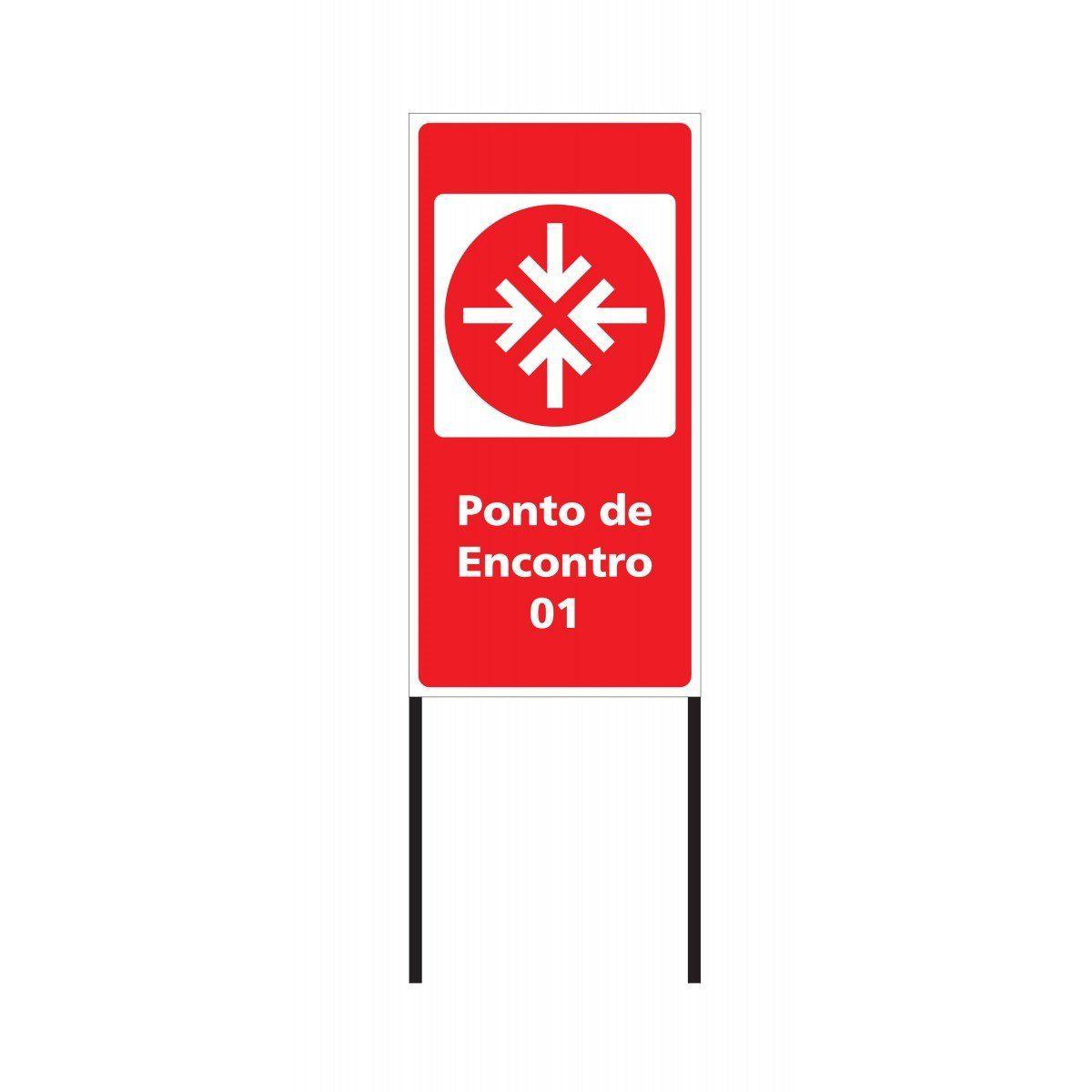 Placa Ponto de Encontro 75x150 cm - Clace 1 UN