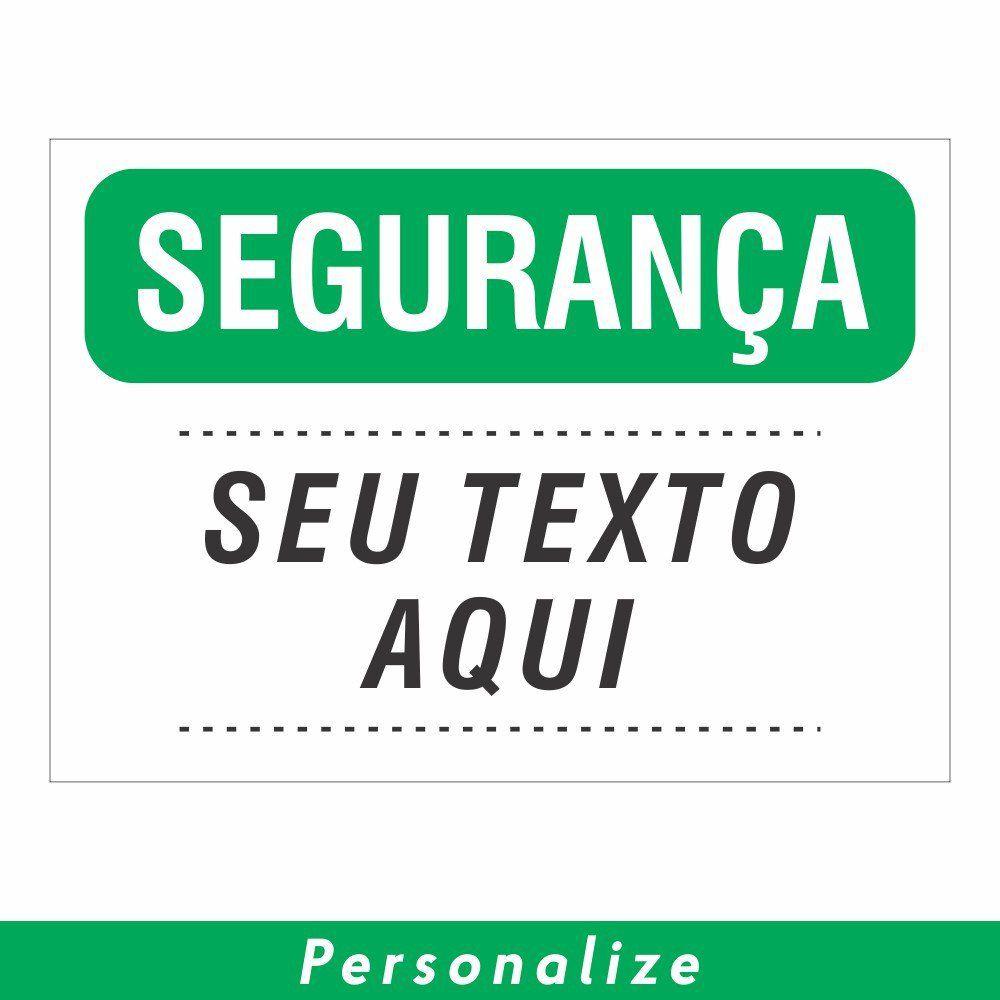 Placa SEGURANÇA Personalizada - Clace 1 UN