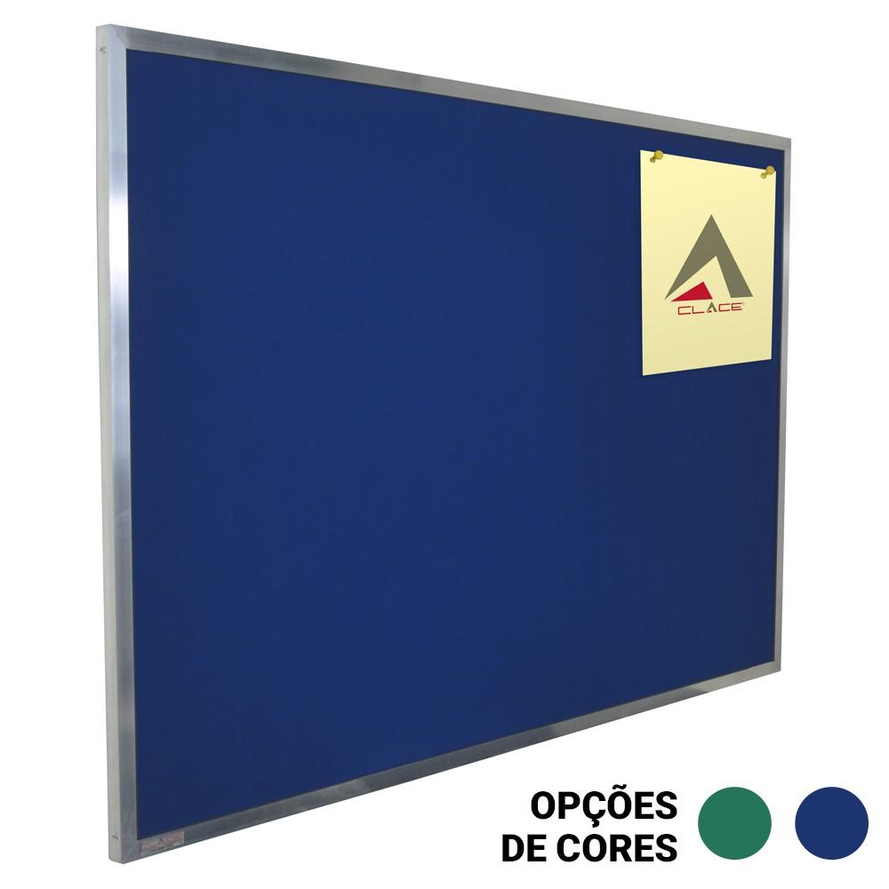 Quadro de Avisos em Feltro Azul ou Verde - Clace 1 UN