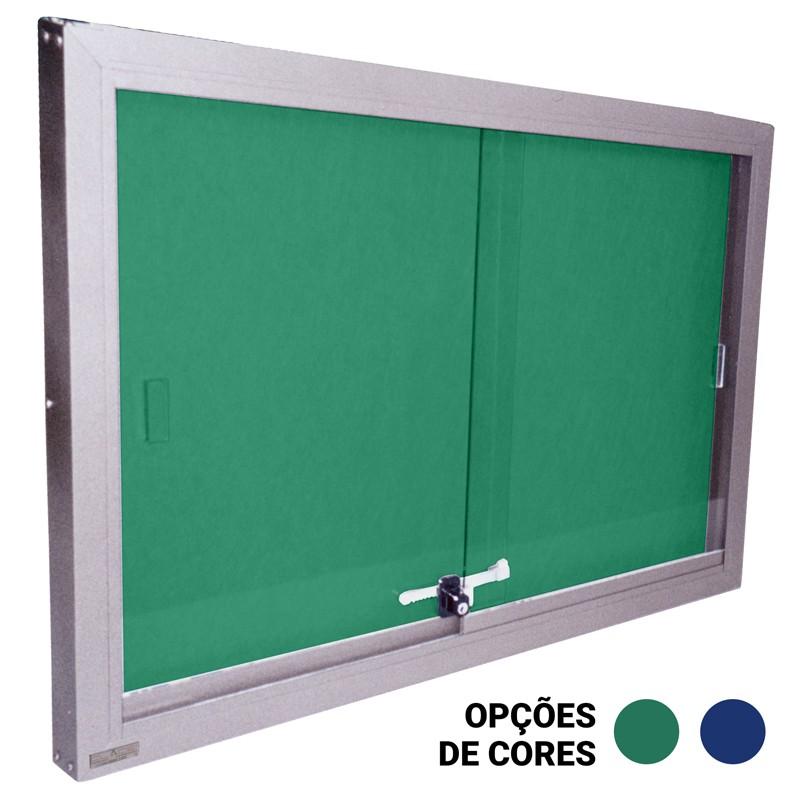 Quadro de Avisos em Feltro Azul ou Verde com Gabinete - Clace 1 UN