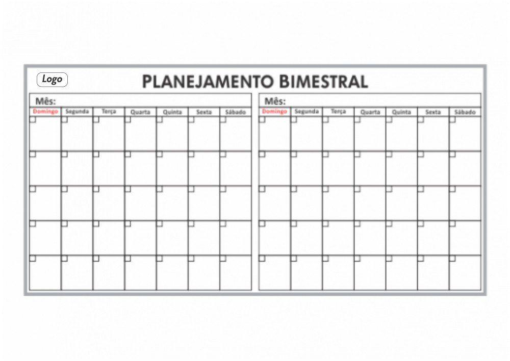 Quadro de Planejamento Bimestral (235 x 100cm) - Clace 1 UN