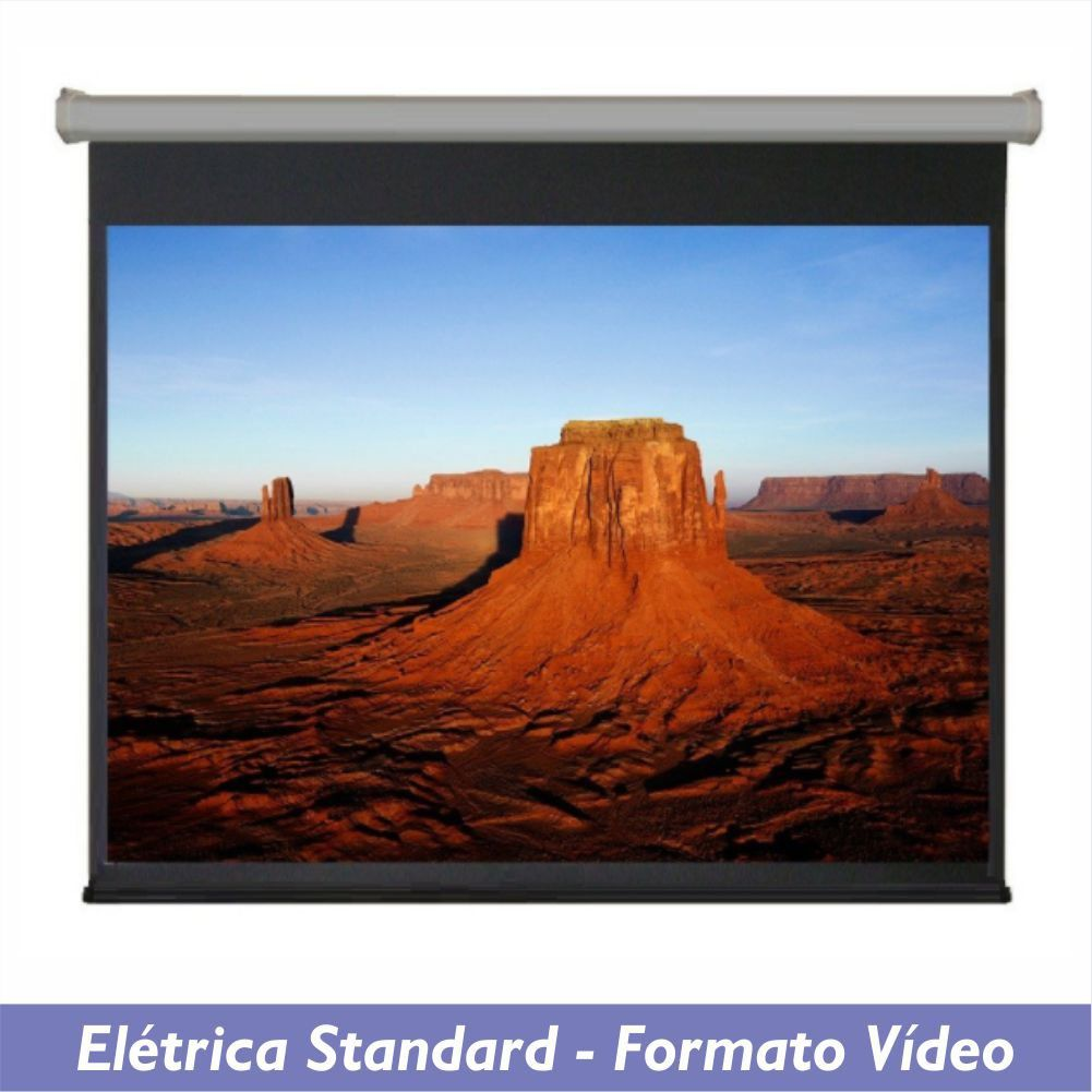 Tela Elétrica Standard no Formato Vídeo 4:3 - Clace 1 UN