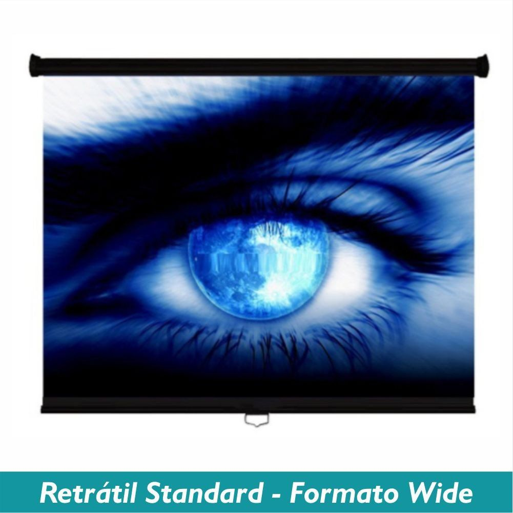 Tela Retrátil Standard no Formato Wide 16:10 - Clace 1 UN