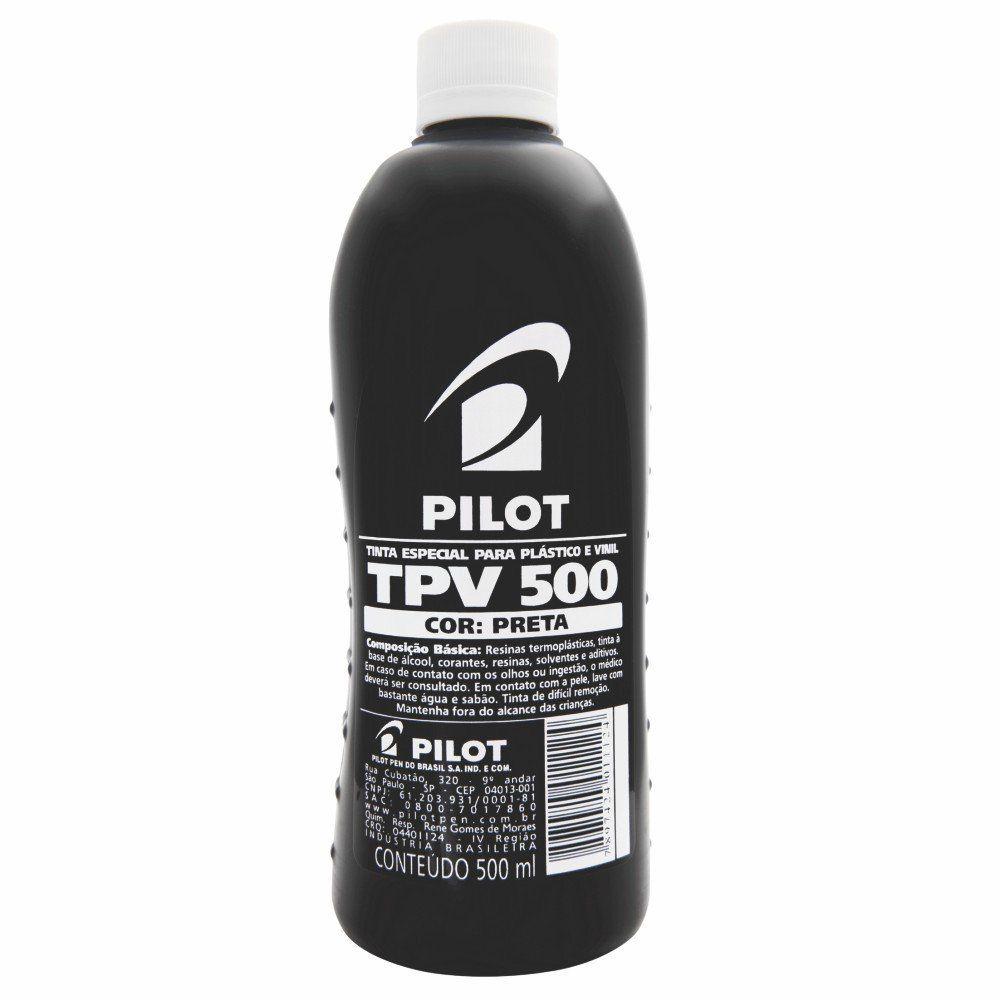 Tinta para Plástico e Vinil TPV 500 Preto - Pilot 1 FR