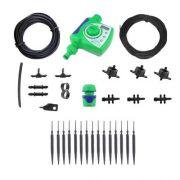 Kit Irrigação Gotejamento 12 Vasos c/ Temporizador Eletronico